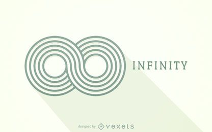 Gestreifte Unendlichkeit Logo Vorlage