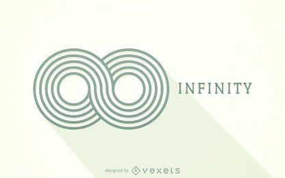 Plantilla de logotipo de infinito a rayas