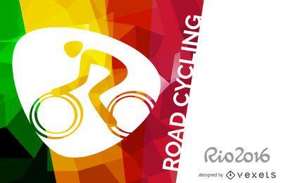 Cartel de ciclismo de ruta Rio 2016