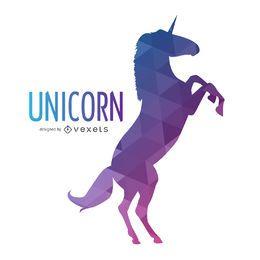 silueta de unicornio poligonal