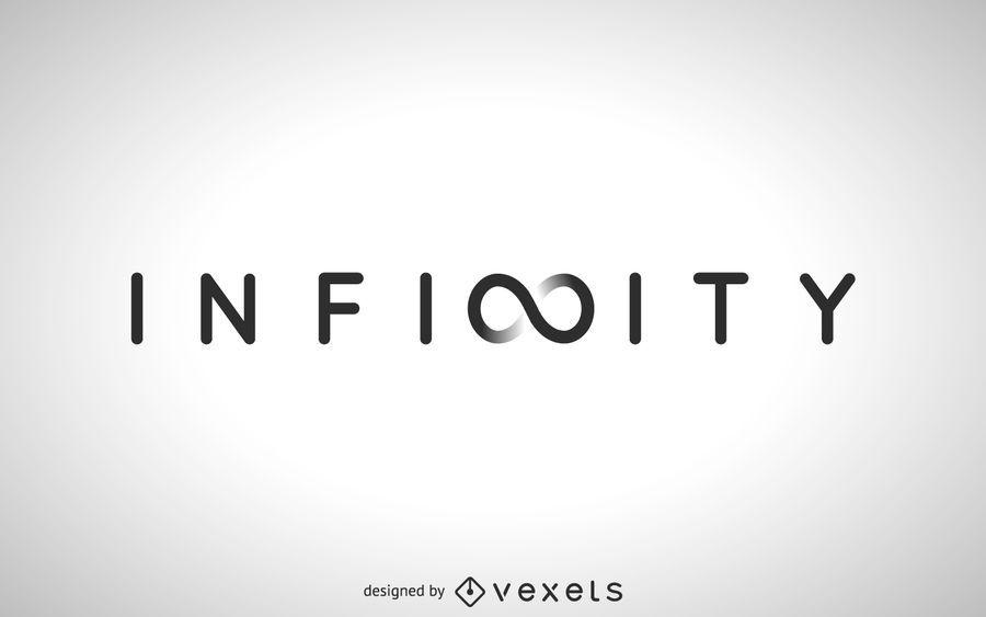 Modelo de logotipo de arte do conceito de infinito
