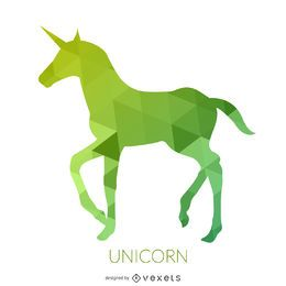 Green unicorn silhouette