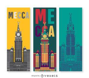Conjunto de banners de la Meca