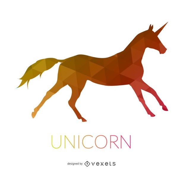 Running unicorn illustration