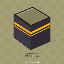 Kaaba in Mecca illustration