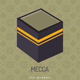 Kaaba na ilustração de Meca