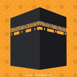 Flat Kaaba illustration
