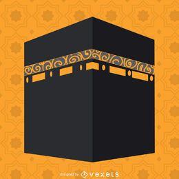 Ilustración plana de Kaaba