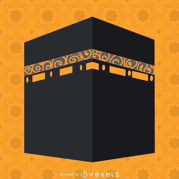 Flache Kaaba-Abbildung