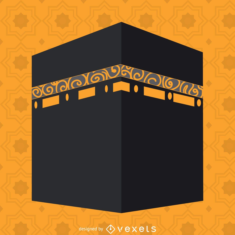 Flat Kaaba illustration