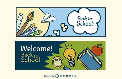 Banners de regresso à escola