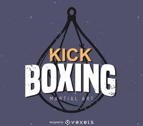 Modelo de logotipo de etiqueta Kick boxing