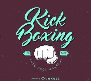 logotipo de la plantilla kick-boxing