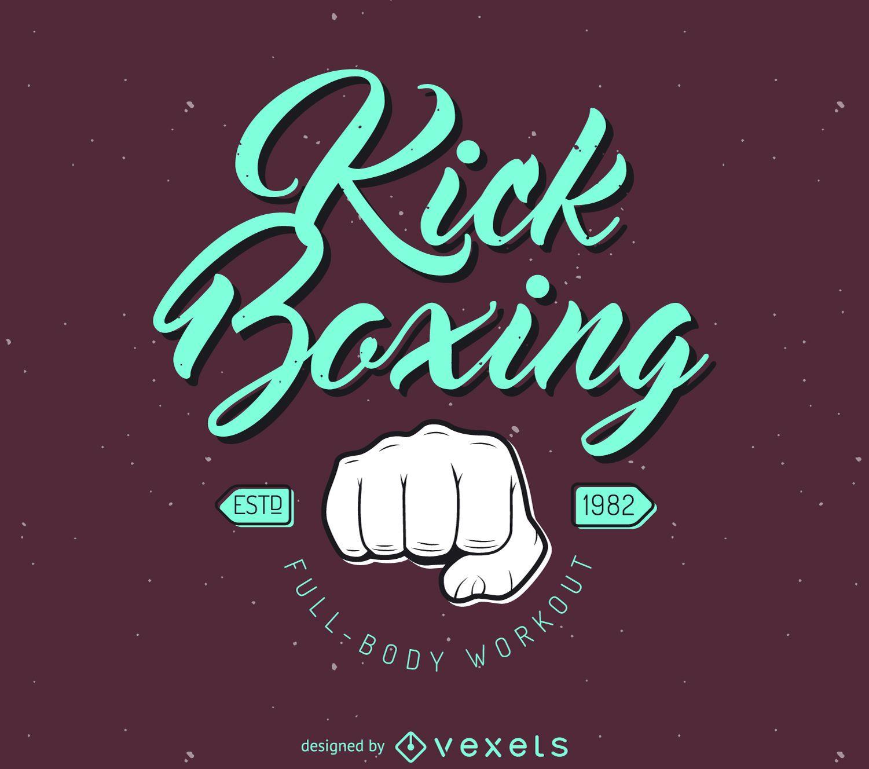Plantilla de logotipo de kick-boxing