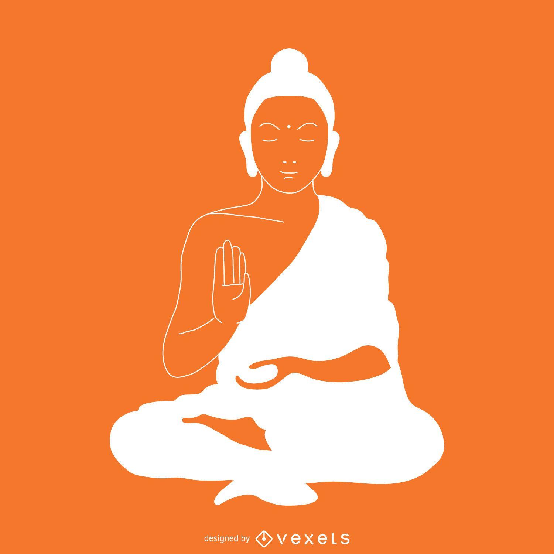 Ilustración de Buda simple