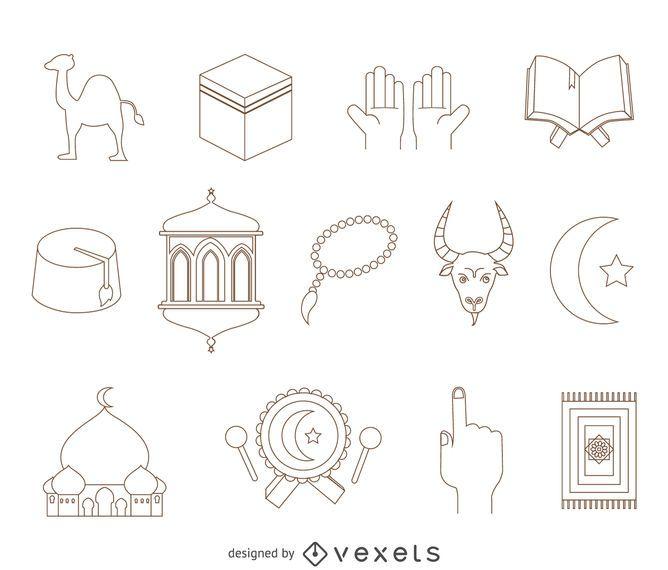 Arabische Elemente Zeichnungssatz