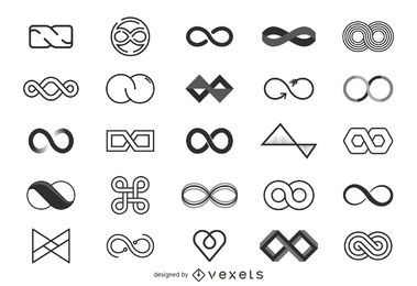 Coleção de modelo de logotipo infinito