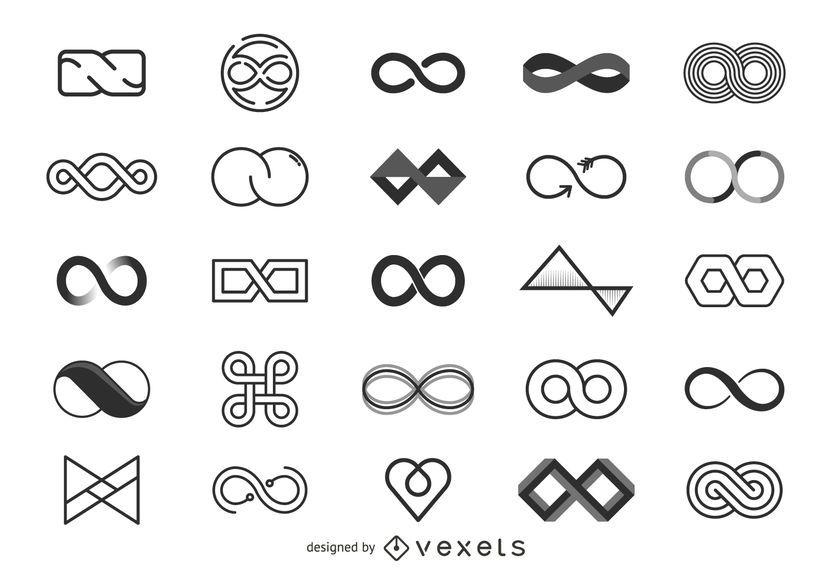 Colección de plantillas de logotipo Infinity