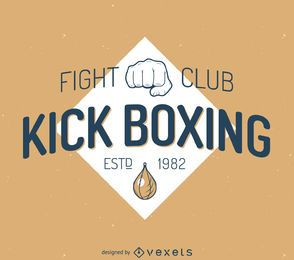 Modelo de etiqueta de kickboxing