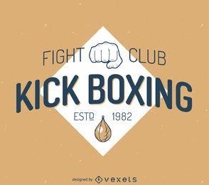 plantilla de la etiqueta kick-boxing