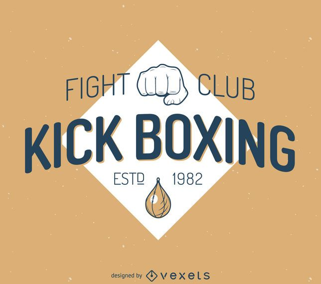 Kick-boxing label template