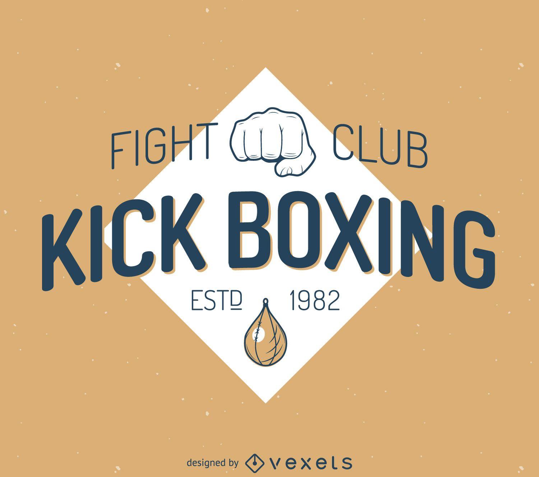 Plantilla de etiqueta de kick-boxing