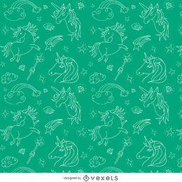 Illustrated unicorn pattern