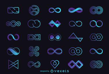 Conjunto de modelo de logotipo infinito