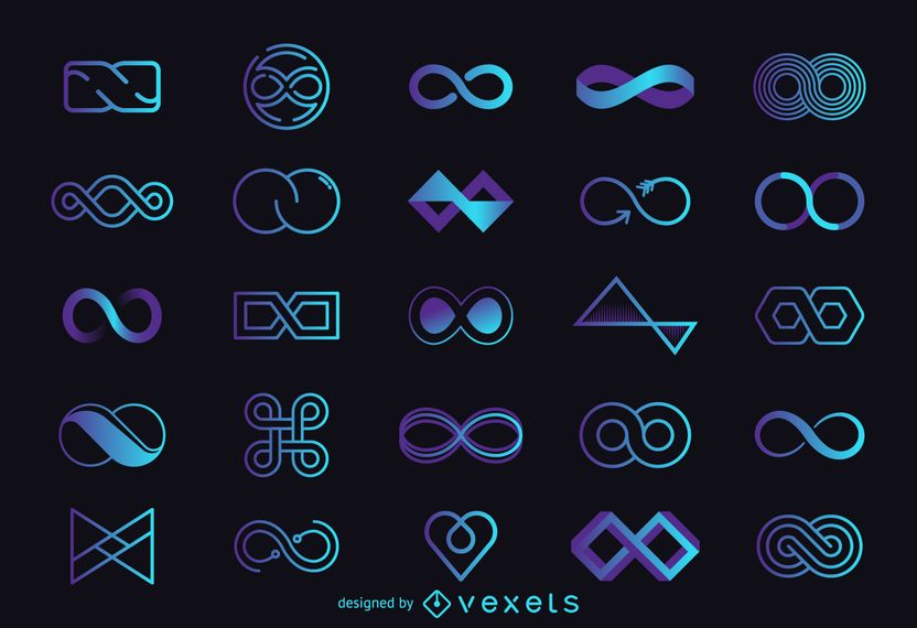 Infinity logo template set
