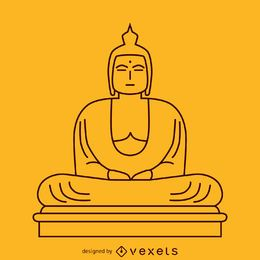 Ilustração minimalista de Buda