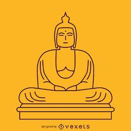 Minimalistische Buddha-Illustration