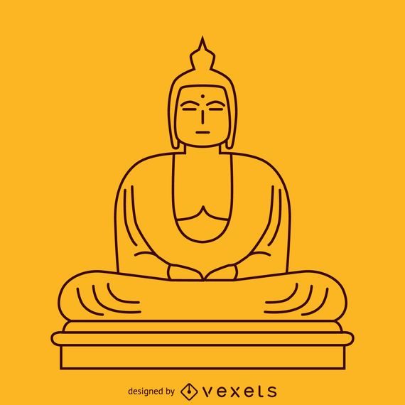 Minimalist Buddha illustration