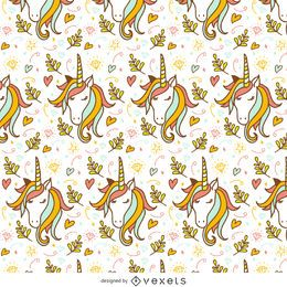 patrón del doodle del unicornio