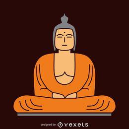 Ilustração plana de Buda