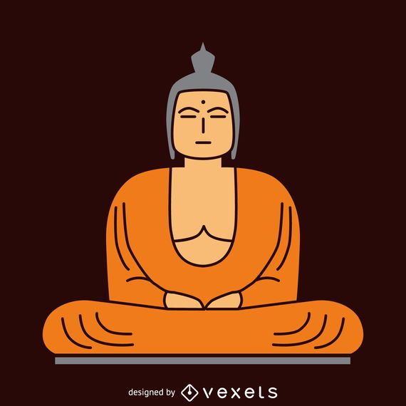 Flat Buddha illustration