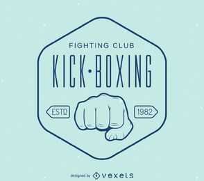 logotipo modelo linear de kick-boxing