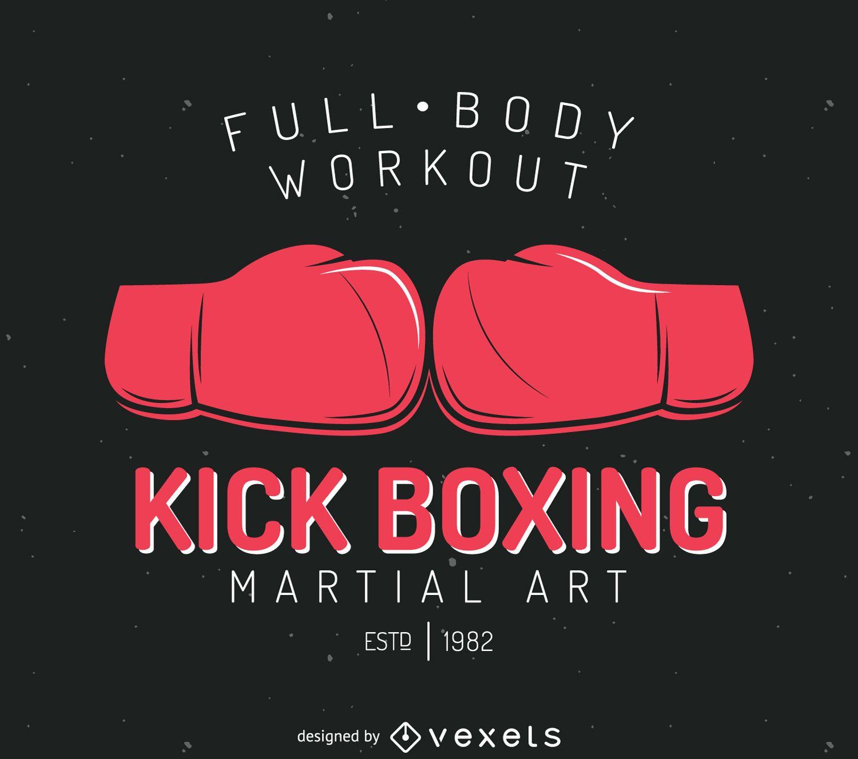 Kick Boxing Badge Logo Template