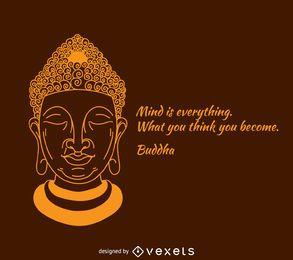 A mente é tudo cartaz Buddha