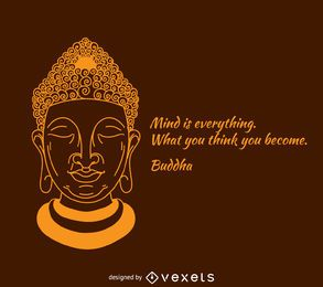 A mente é tudo cartaz de Buddha