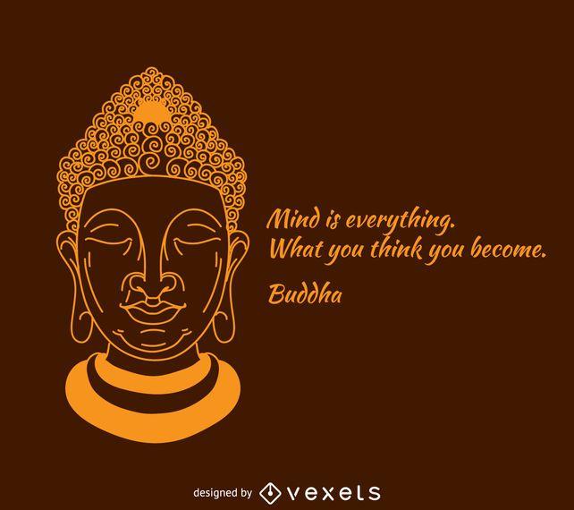 Der Geist ist alles Buddha Poster