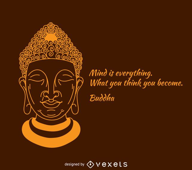 Mind is everything Buddha poster