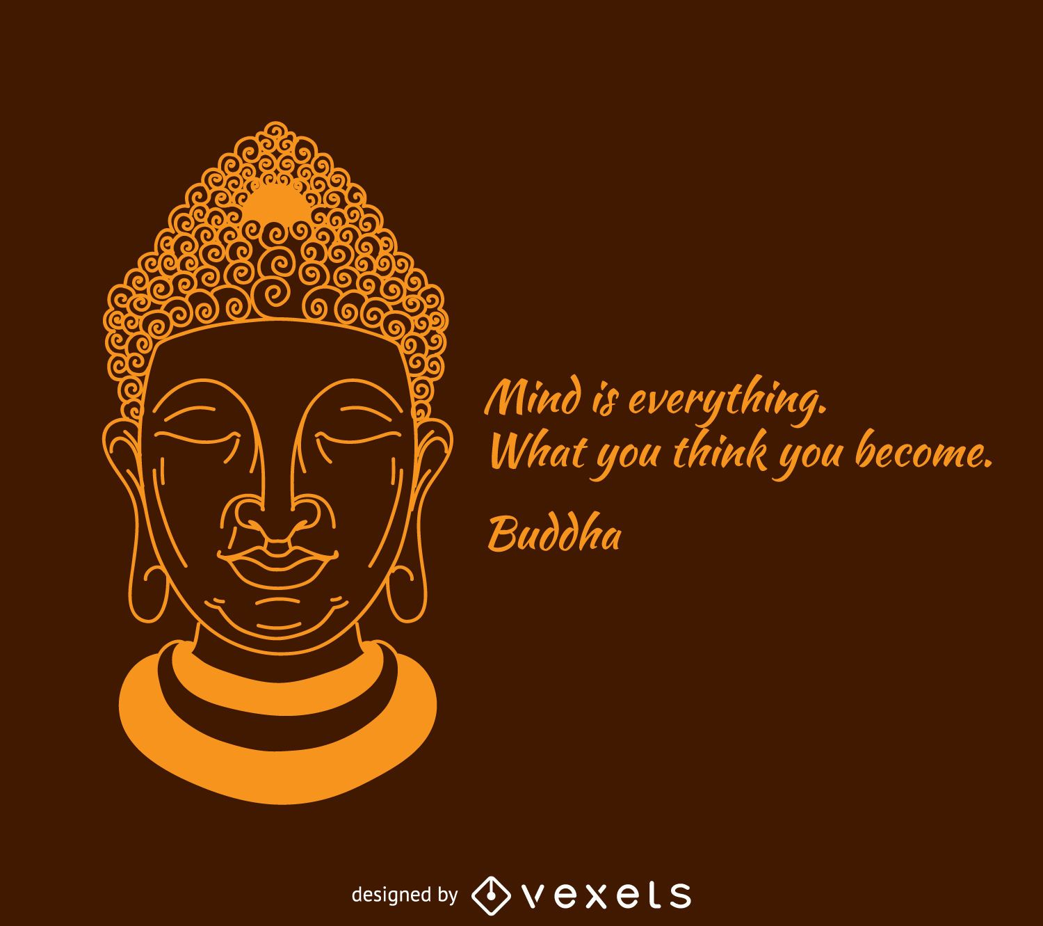 Eternal knot buddhism symbol vector download mind is everything buddha poster biocorpaavc Gallery