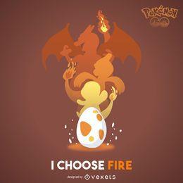 Pôster de Pokémon de fogo