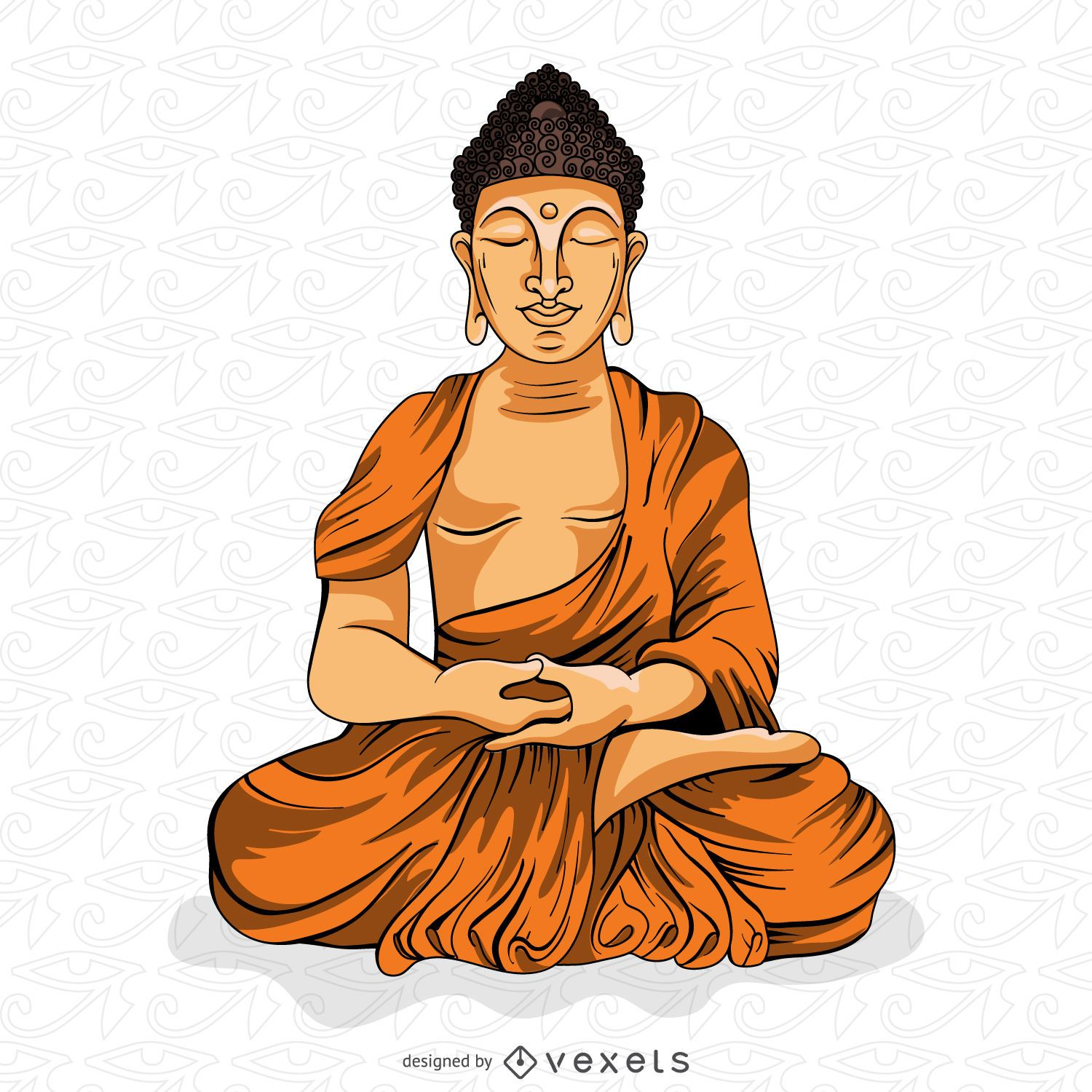 buddha illustration buddha meditating illustration vector download 2755