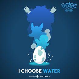 Póster de Pokémon de agua.