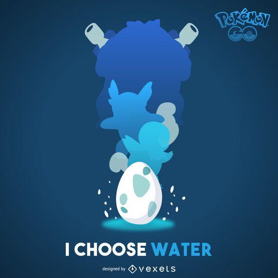 Pôster de Pokémon de Água