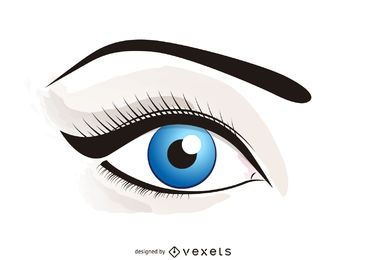 Illustriertes Auge mit Make-up