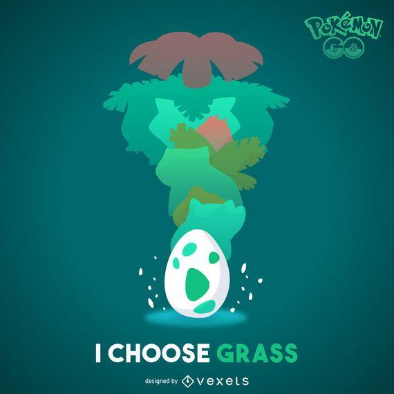 Ilustración de Pokémon hierba