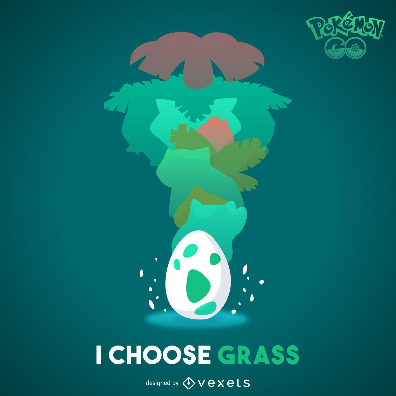 Grass Pokémon illustration