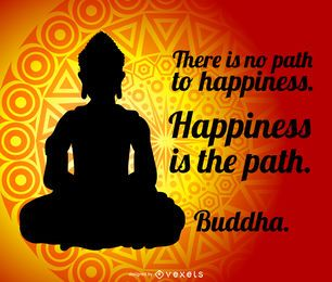 cartel de la cita de Buda
